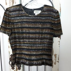 Adrianna Papell beaded top small